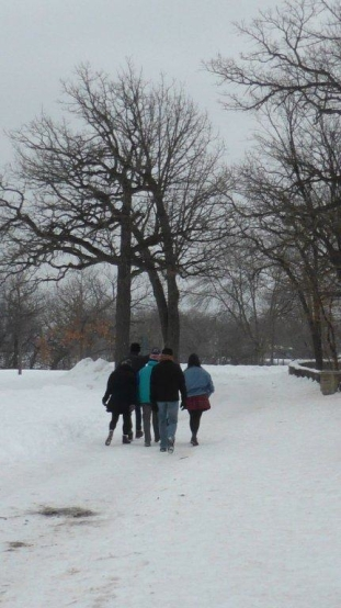 Friday afternoon with friends. Going sledding at Minnehaha Park