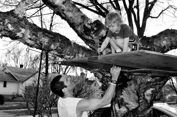 The Boardman's Working on a Tree House