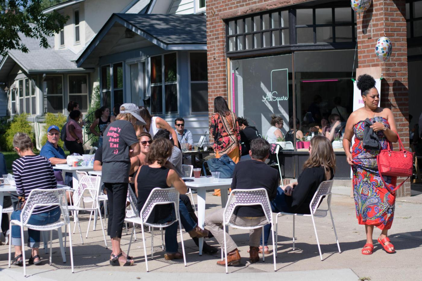All Square restaurant patio